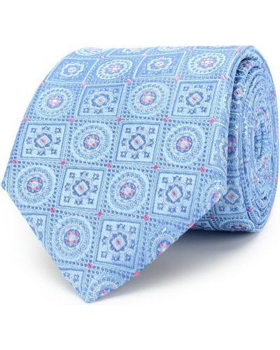 Голубой шелковый галстук Canali