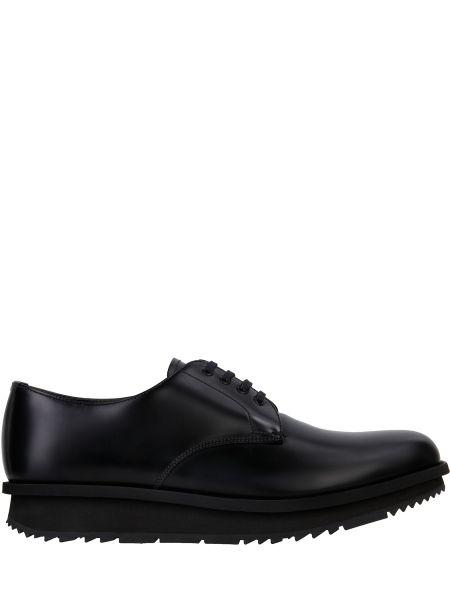 Туфли на шнуровке черные Prada