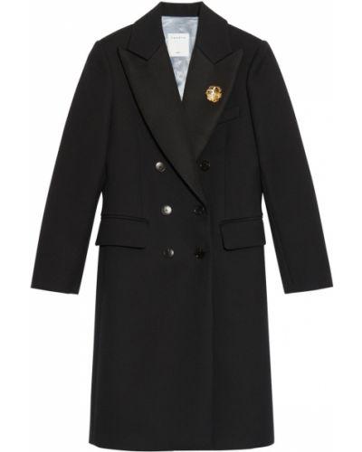 Шерстяное пальто - черное Sandro