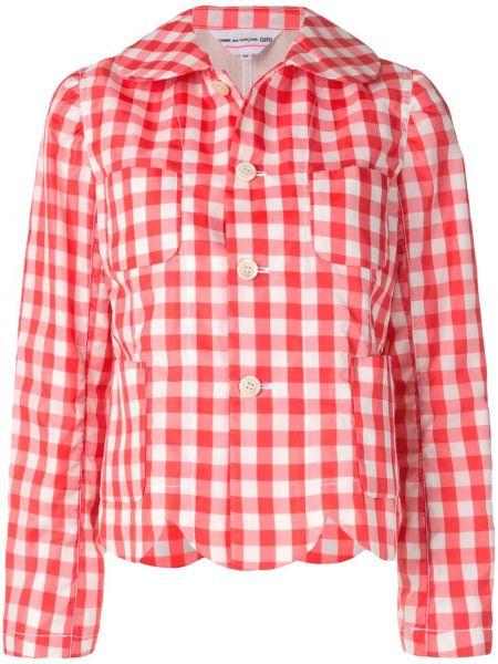 Красный короткая куртка с накладными карманами на пуговицах Comme Des Garçons Girl
