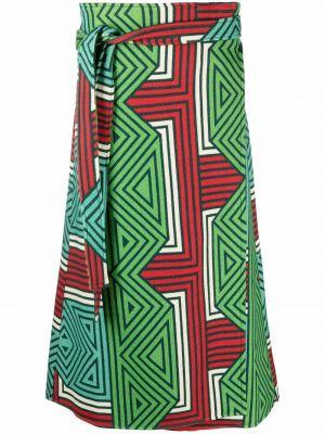 Зеленая шерстяная юбка Pierre-louis Mascia