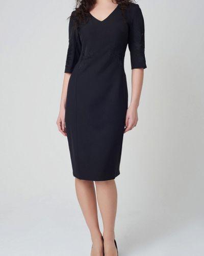 Черное платье-футляр Ricamare