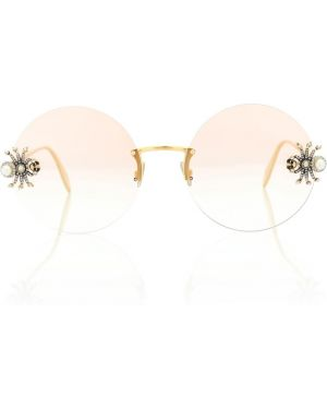 Муслиновые солнцезащитные очки круглые Alexander Mcqueen