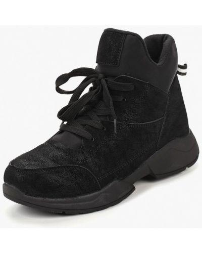 Высокие кроссовки черный замшевые Vivian Royal