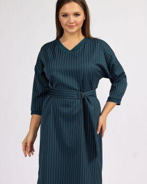 Платье макси в полоску с V-образным вырезом ангелика