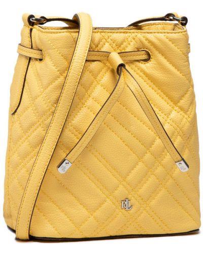 Żółta torebka Lauren Ralph Lauren
