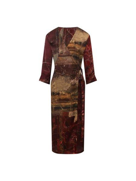 Красное шелковое платье Uma Wang