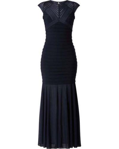 Sukienka wieczorowa w paski - niebieska Swing
