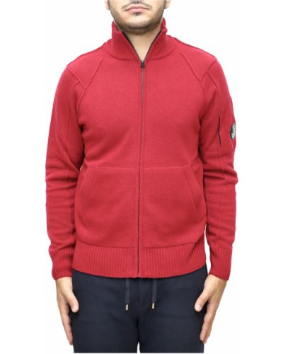 Miękki wełniany sweter z zamkiem błyskawicznym C.p. Company