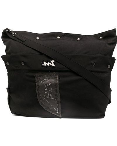 Czarna torebka bawełniana Yohji Yamamoto