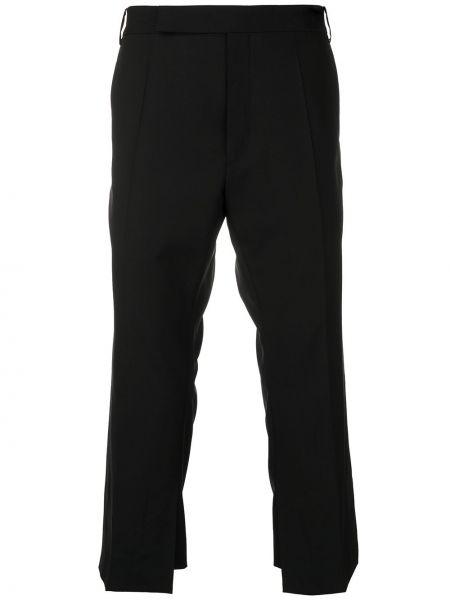 Шерстяные черные укороченные брюки с поясом с потайной застежкой Namacheko