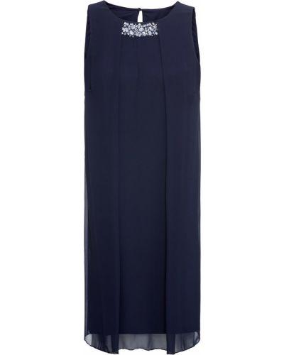 Платье шифоновое синее Bonprix