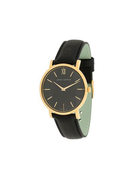 Часы с круглым циферблатом черные Larsson & Jennings