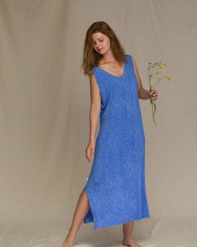 Платье свободного кроя - синее Key