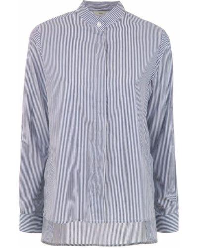 Рубашка с длинным рукавом в полоску с воротником-стойкой Egrey
