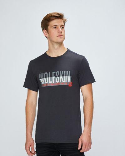 Серая футболка Jack Wolfskin