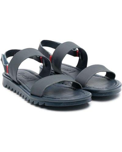 Niebieskie sandały peep toe Bonpoint
