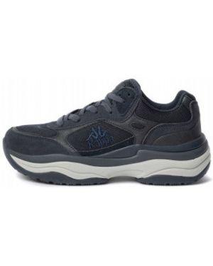 Кожаные синие классические кроссовки на шнуровке Kappa
