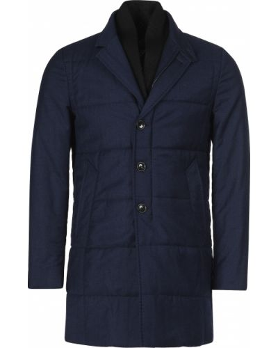 Шерстяное пальто - синее Montecore