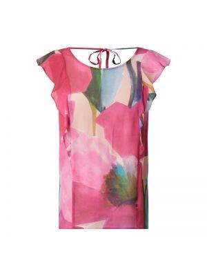 Różowy top z falbanami Pennyblack