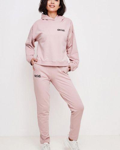 Костюмный розовый спортивный костюм Jolifashn