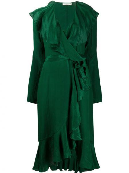 Платье миди с V-образным вырезом зеленый Mes Demoiselles
