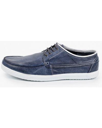Кожаные синие туфли Der Spur