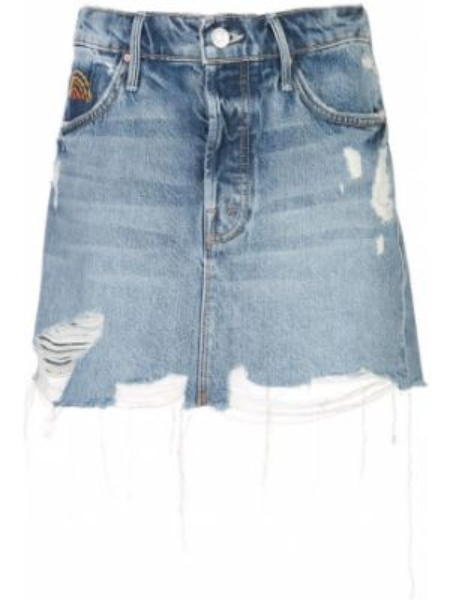 Юбка мини джинсовая с завышенной талией Mother