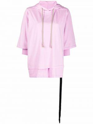 Худи длинное - розовое Rick Owens Drkshdw
