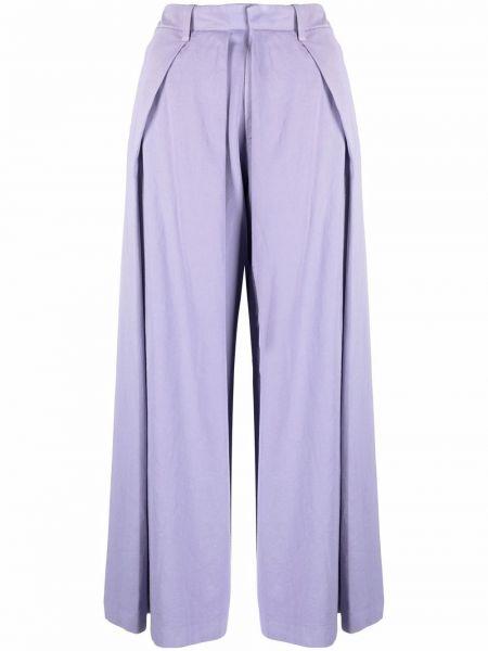 Fioletowe spodnie bawełniane Charles Jeffrey Loverboy