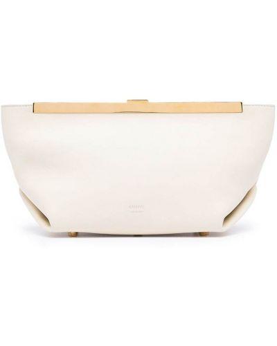 Кожаная белая сумка Khaite