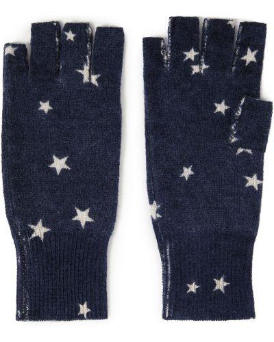 Rękawiczki bez palców - niebieskie Autumn Cashmere