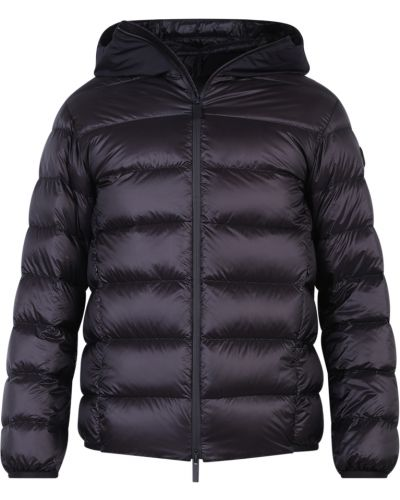 Czarna kurtka puchowa pikowana z długimi rękawami Moncler
