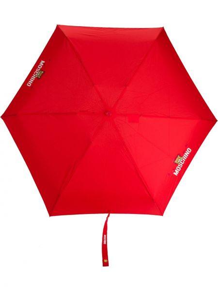 Зонт с логотипом - красный Moschino