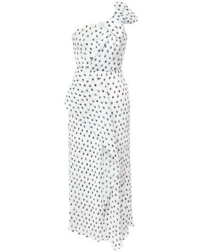 Шелковое белое платье с подкладкой Roland Mouret