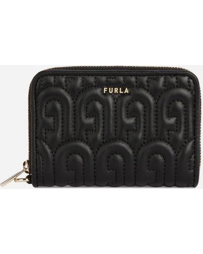 Кожаный бумажник - черный Furla