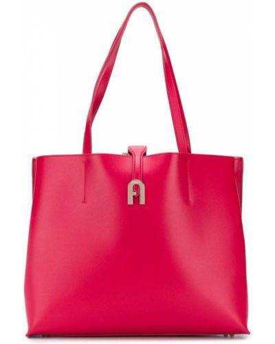 Кожаная красная сумка-тоут на молнии Furla