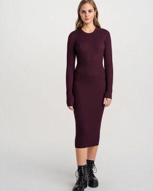Красное вязаное платье Befree