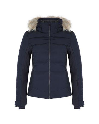 Приталенная утепленная синяя куртка Salomon