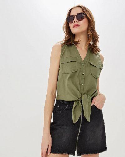 Блузка без рукавов зеленый весенний Jennyfer