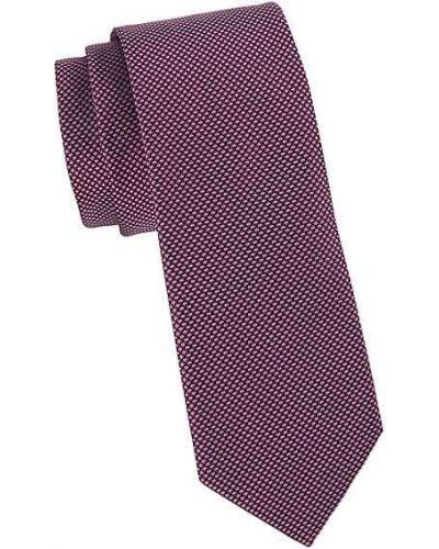 Fioletowy krawat z jedwabiu Boss Hugo Boss