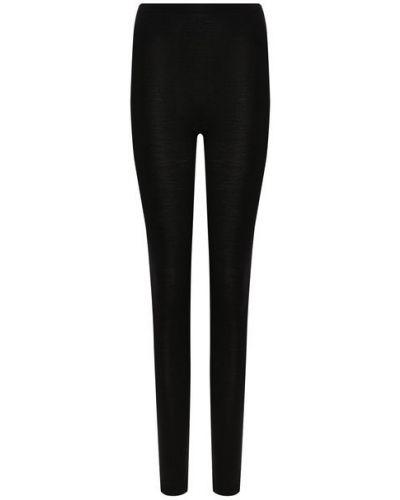 Облегающие шерстяные черные брюки Hanro