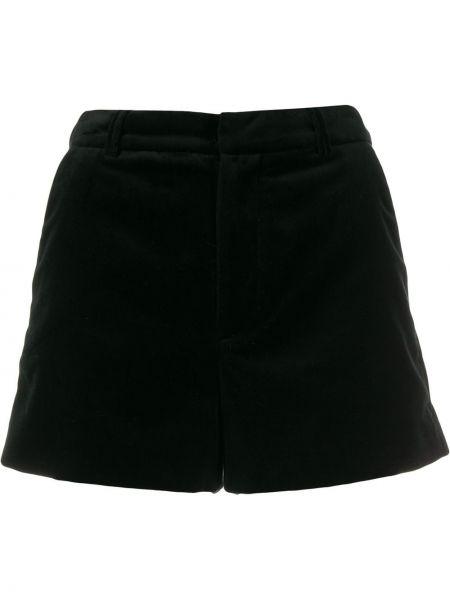 Бархатные черные шорты с карманами Zadig&voltaire