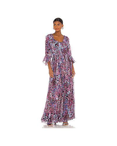 Фиолетовое платье макси с подкладкой на молнии Loveshackfancy