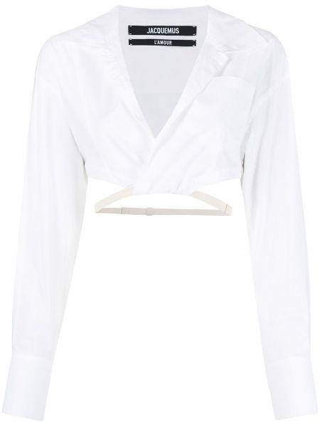 Bawełna z rękawami koszula z mankietami Jacquemus