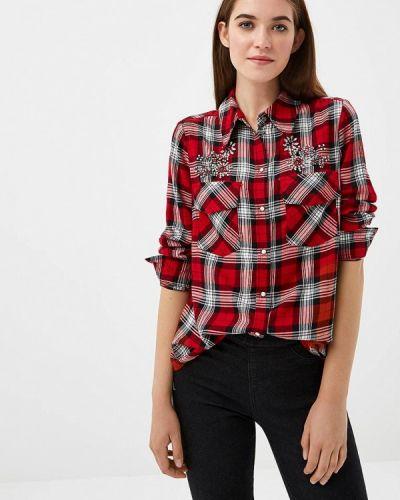Красная рубашка с длинным рукавом Zarina