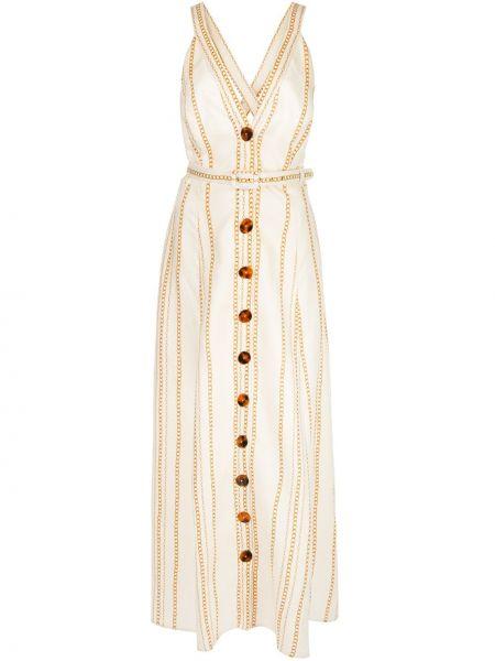 Платье с поясом на пуговицах на бретелях Nicholas