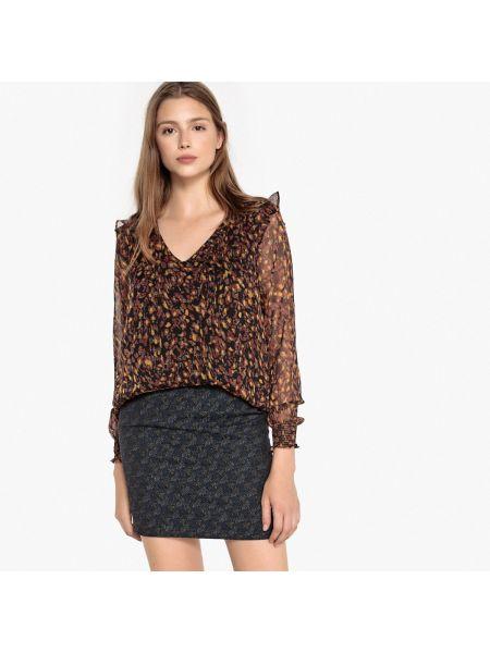 Блузка с вырезом - оранжевая Sud Express