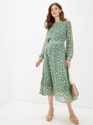 Зеленое платье осеннее Cavo