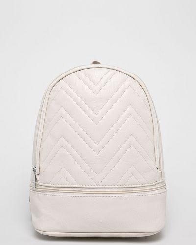Кожаный рюкзак бежевый с отделениями Answear